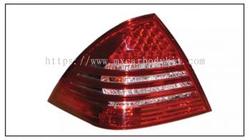MERCEDES BENZ W203 REAR LAMP CRYSTAL LED RED / CLEAR