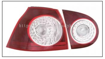 VOLKSWAGEN GOLF MK5 REAR LAMP CRYSTAL LED RED / CLEAR