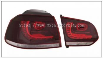 VOLKSWAGEN GOLF MK6 REAR LAMP CRYSTAL LED RED / CLEAR