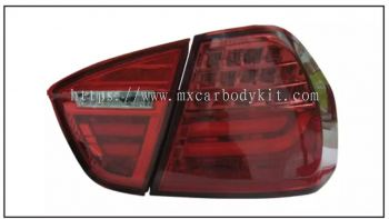 BMW E90 2005 REAR LAMP CRYSTAL LED + LIGHT BAR RED