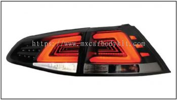 VOLKSWAGEN MK7 2013 & ABOVE REAR LAMP CRYSTAL LED + LIGHT BAR SMOKE