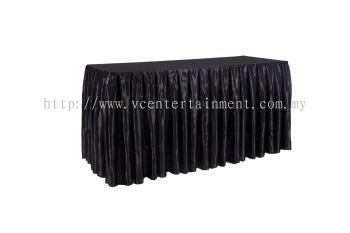 Black Normal Oblong Table Skirting 2x5