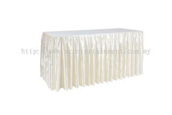 Cream Normal Oblong Table Skirting 2x5