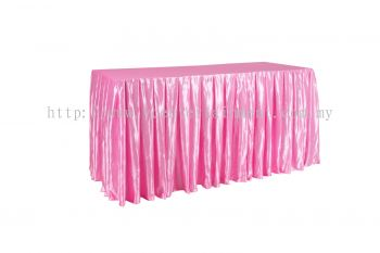 Pink Normal Oblong Table Skirting 2x5