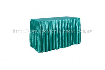 Turquoise Normal Oblong Table Skirting 2x4