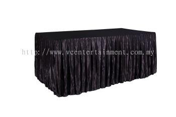 Black Normal Oblong Table Skirting 3x6