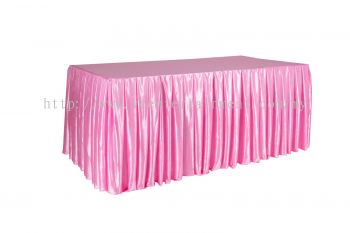 Pink Normal Oblong Table Skirting 3x6