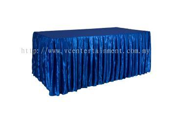 Royal Blue Normal Oblong Table Skirting 3x6