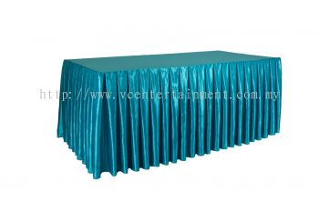 Turquoise Normal Oblong Table Skirting 3x6