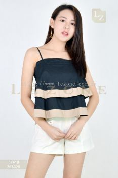 87410 CONTRAST BLOUSE��AS IS RM25��