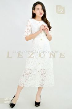820253 + 850254 LACE BLOUSE WITH MIDI SKIRT 【1ST 10% 2ND 15% 3RD 20%】