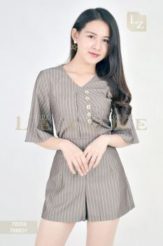 78559 + 768831 STRIPED BLOUSE WITH SHORT PANTS