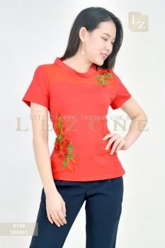 6746 EMBROIDERED SLEEVE BLOUSE��EVERYONE MUST HAVE RM88 NETT��