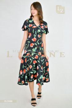 OL5586 LeAnn Floral Midi Dress��Value Buy��