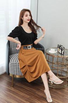 MZ6607 Pleated Detail Relax Skirt