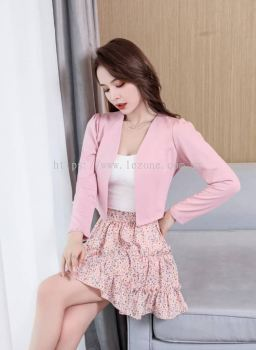 BB6703 Open-Front Cropped Jacket