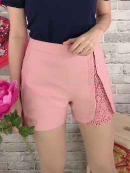 20098 Front Split Laced Short Pant