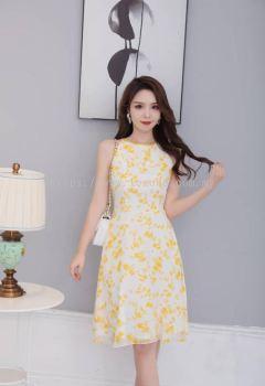 MZ6642 Cut-In Floral Dress
