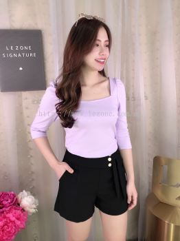 626845 Square Neck 3/4 Sleeved Top