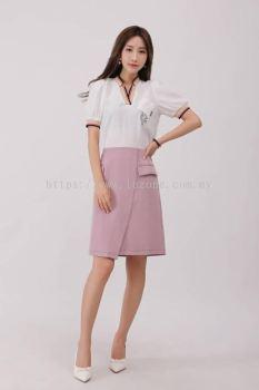 6885BS Overlap Midi Skirt