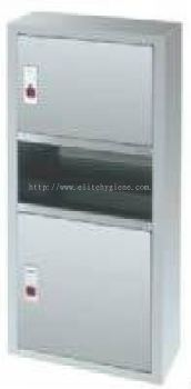 EH Stainless Steel 2 in 1 Paper Towel Dispenser & Disposal (Wall-Mounted) 002