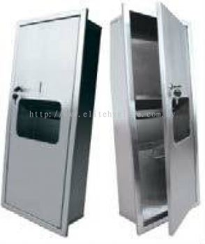 EH Stainless Steel 2 in 1 Paper Towel Dispenser with Disposal Bin (Recessed) 190