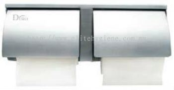 EH Stainless Steel Toilet Roll Holder (Double Roll) 1600