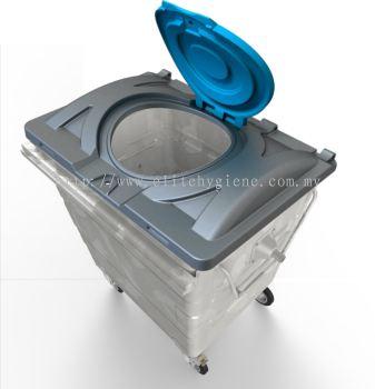 EH Hot Dipped Galvanised Garbage Bin 1100L