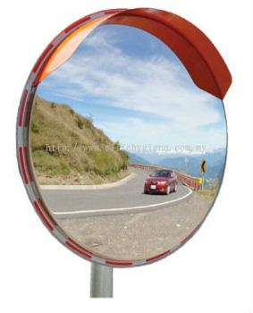 EH Stainless Steel Outdoor Convex Mirror (Pole Mounted)