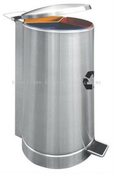 EH Pedal Recycle Bins c/w Stainless Steel Body & Powder Coating Cover 137