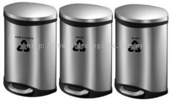 EH Stainless Steel Foot Pedal Recycle Bin