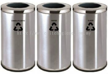 EH Stainless Steel Open Top Recycle Bin
