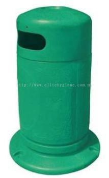 EH Damas Polyethylene Bin 95L c/w Inner Liner Ashtray