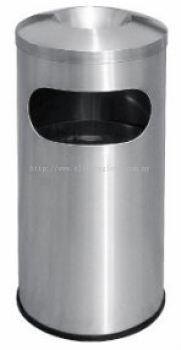 EH Stainless Steel Litter Bin c/w Ashtray Top 50L