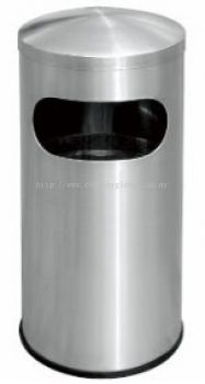 EH Stainless Steel Litter Bin c/w Dome Top 51