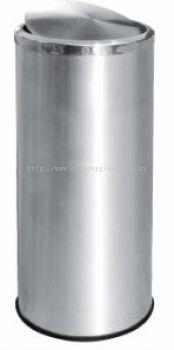EH Stainless Steel Litter Bin c/w Flip Top 31