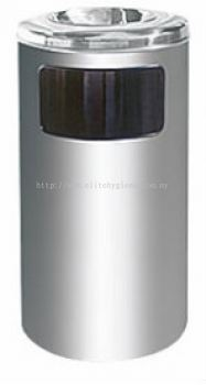 EH Stainless Steel Litter Bin c/w Ashtray Top 40