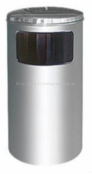 EH Stainless Steel Litter Bin c/w Flat Top 41