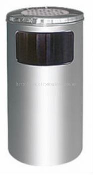 EH Stainless Steel Litter Bin c/w Ashtray Top 60