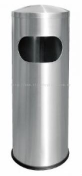 EH Stainless Steel Litter Bin c/w Dome Top