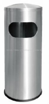 EH Stainless Steel Litter Bin c/w Dome Top 043