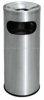 EH Stainless Steel Litter Bin c/w Ashtray Top