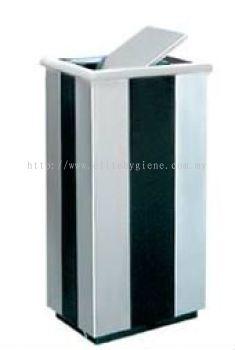 EH Stainless Steel + Powder Coating Rectangular Flip Top Bin