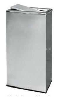 EH Stainless Steel Rectangular Flip Top Bin