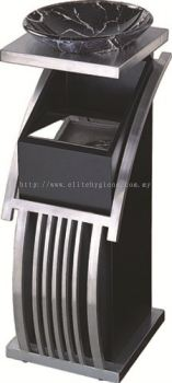 EH Stainless Steel + Powder Coating Design Bin c/w Artifical Designed Glass Bowl on Top & Inner Line