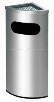 EH Stainless Steel Corner Bin c/w Ashtray Top