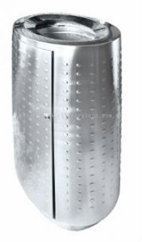 EH Stainless Steel Oval Waste Bin c/w Open Top