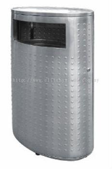 EH Stainless Steel Oval Waste Bin c/w Flat Top