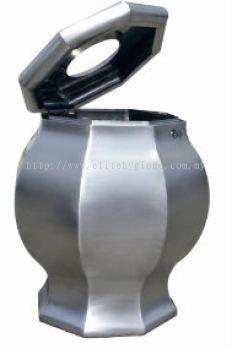 EH Stainless Steel Design Waste Bin c/w Open Top