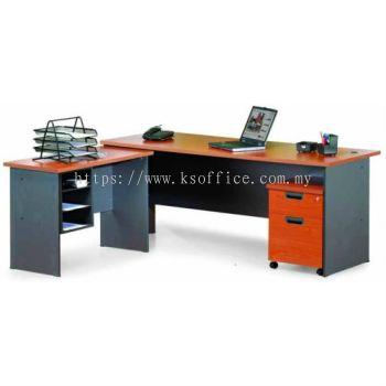 Executive Desk VI (G-Series+Side Table)